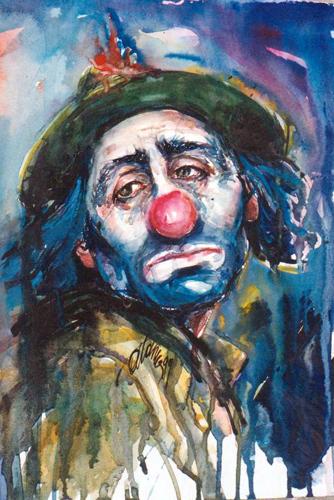 Sad Clown Oil Paintings