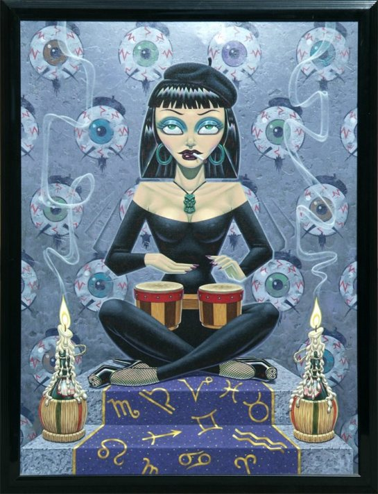 Beatnik Queen by Todd Schorr